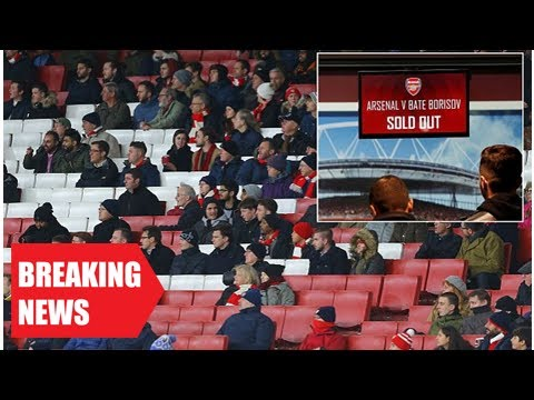Breaking News - Arsenal welcome lowest-ever crowd to the emirates stadium