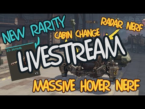 Crossout HOVER NERF, NEW WEAPONS And More - Test Server Livestream