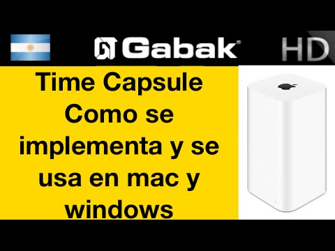 Uso de Time Capsule en mac y windows y como conectarlo e implementarlo