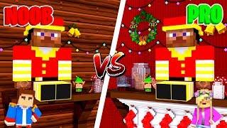 Minecraft NOOB VS PRO : ELF ON THE SHELF HOUSE in Minecraft!