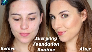 glowy full coverage everyday foundation routine for combo skin   bailey b