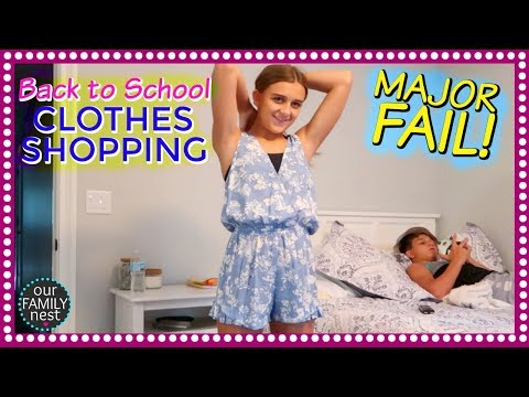 BACK TO SCHOOL CLOTHES SHOPPING FAIL! NEW POOL INSTALL DAY TWO