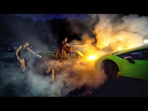 We took this too far… (CAR ON FIRE!)