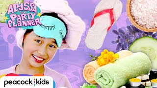 How to Throw a Spa Party! (DIY Eye Masks + Slippers) | ALYSSA THE PARTY PLANNER