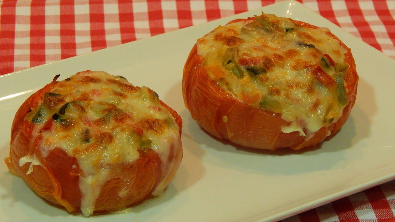 Tomates al horno rellenos de verduras youtube - Verduras rellenas al horno ...