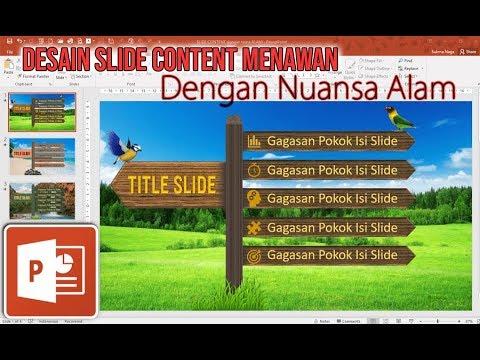 Desain Slide Content yang Menawan dengan Nuansa Alam