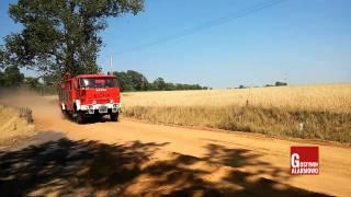 Alarmowo jednostki OSP do pożaru stodoły i pożaru zboża na pniu