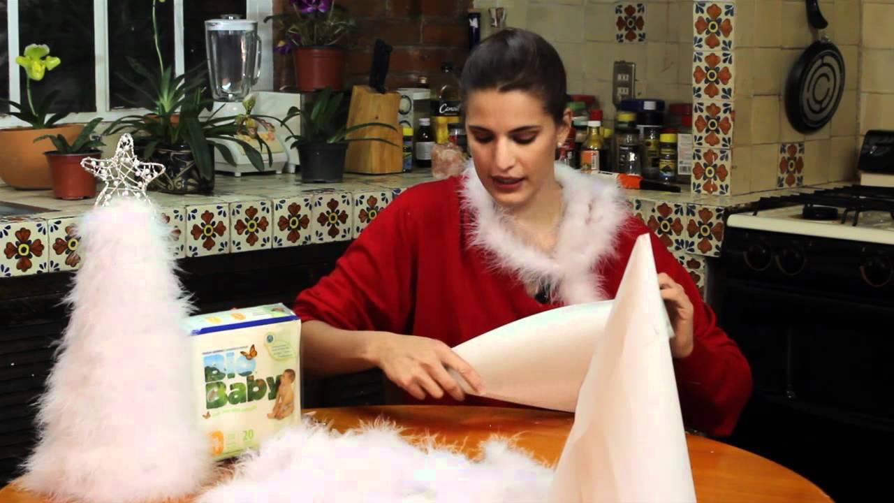 Arbol de navidad para mesa hecho con plumas youtube - Arboles de navidad artesanales ...