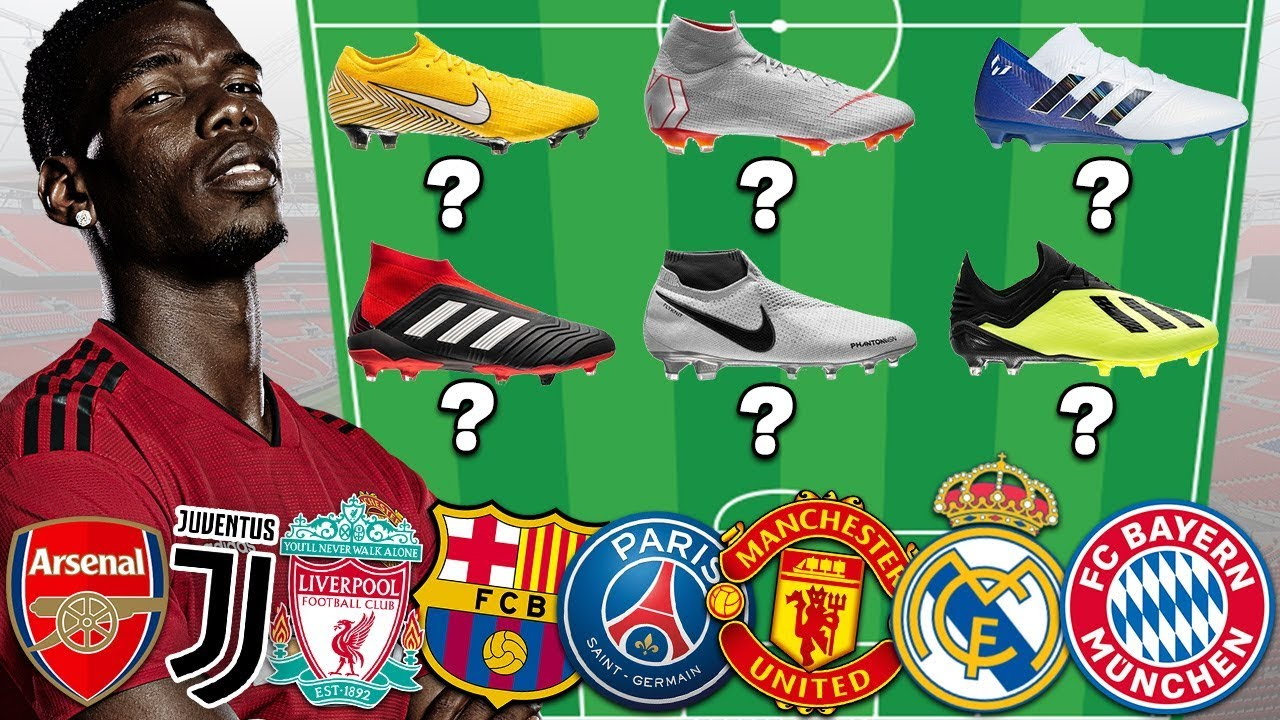 Can You Guess The Team?! Match The Boots With The Club!