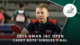 Сергей Рыжов vs Chen Yen-Ting | Oman J&C Open 2019 (CBS Final)