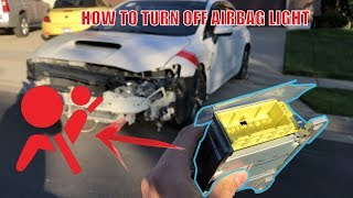How To TURN OFF Airbag Light (REMOVING AIRBAG MODULE)