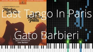 🎹 Last Tango In Paris, Gato Barbieri, Synthesia Piano Tutorial
