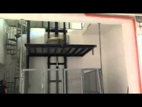 Montacarichi Idraulico Monocolonna altezza 5100 YouTube