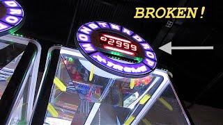 BROKEN MONSTER JACKPOT! Arcade Game WINS!
