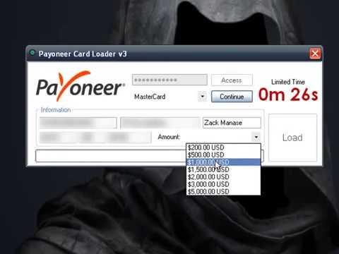 Payoneer Card Loader V3 Live Proof
