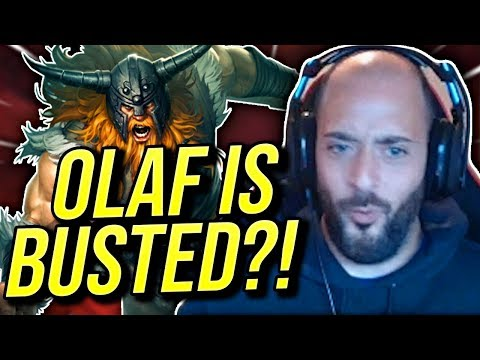 WTF THIS CHAMP IS 100% WAY TOO TANKY OLAF IS BUSTED - Road To Challenger  League of Legends