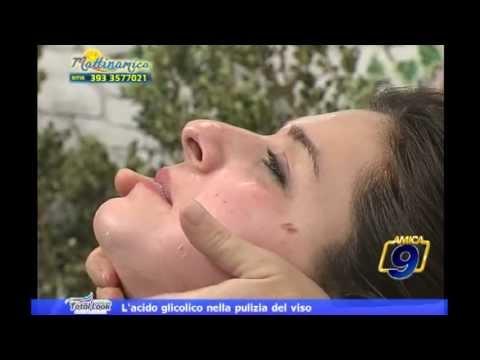 L'acido glicolico nella pulizia del viso