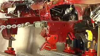 crash repair car bench