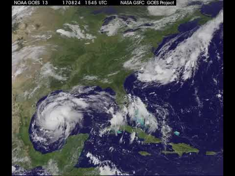 Satellite Animation Shows Hurricane Harvey Approaching
