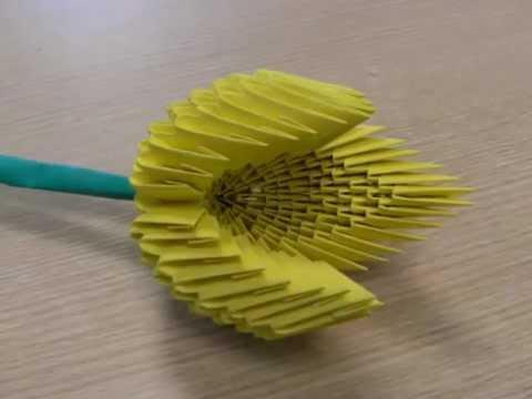 tulipe origami 3d