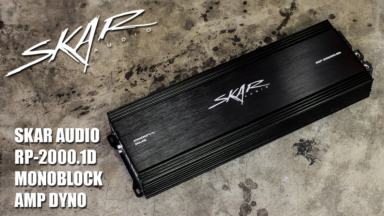 Skar Audio RP-2000 1D Monoblock Amplifier Dyno Runs on SMD AD-1 Amp Dyno!!