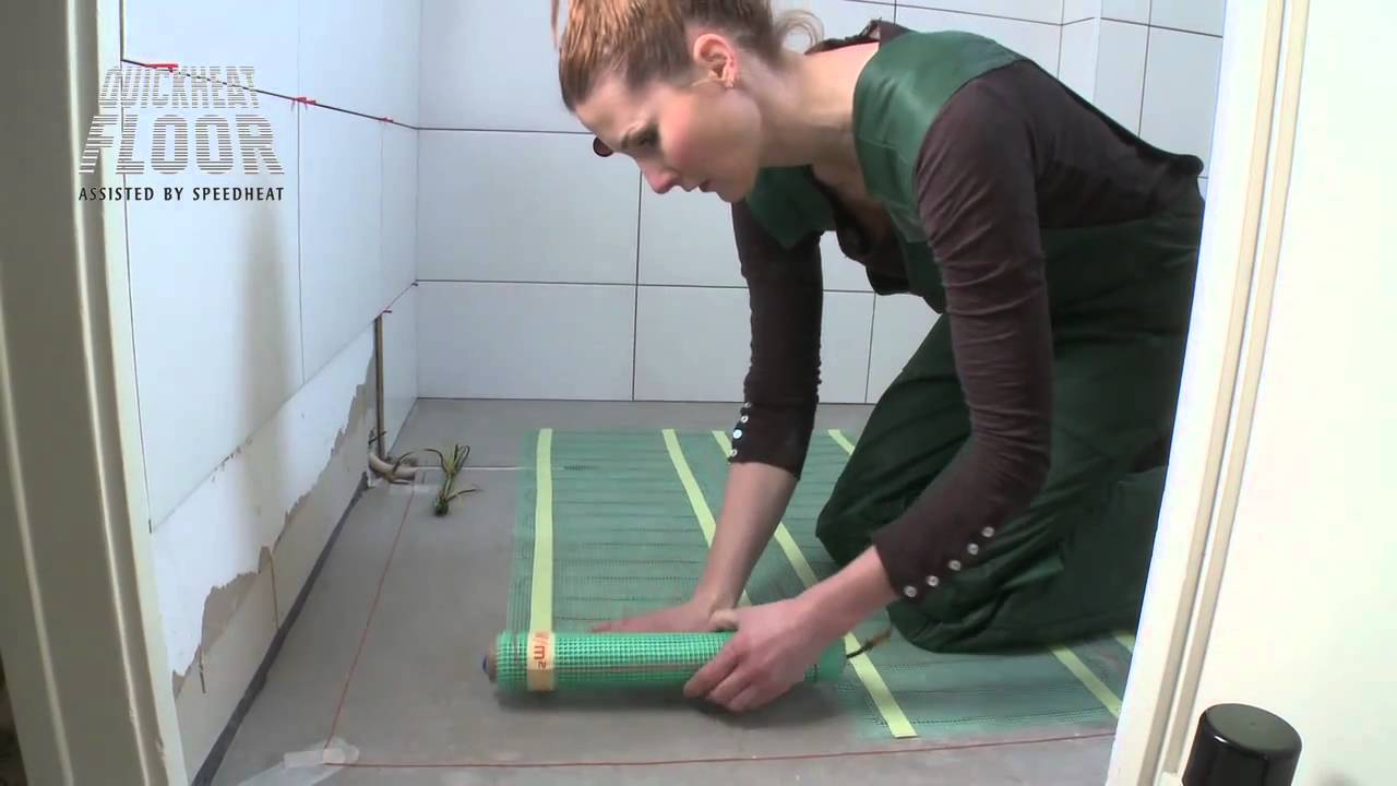 Vloerverwarming Elektrisch Badkamer : Quickheat basic in badkamer youtube