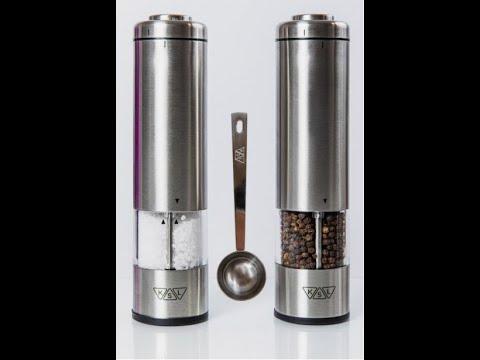Електричні млинки для солі, перцю та спецій KSL - Набір з 2 штук (сільничка та перечниця)
