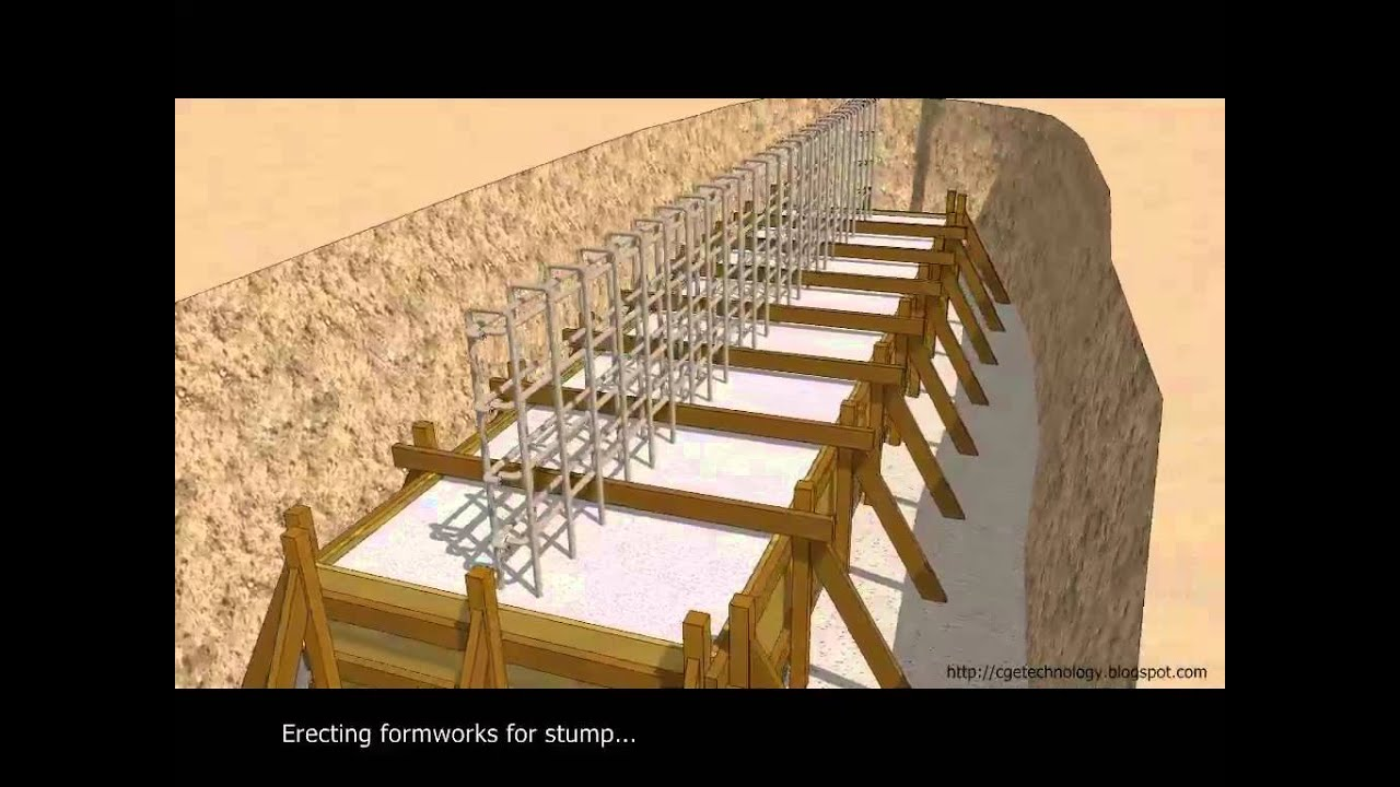 Designing House Sketchup Animation Casting Of R C Strip Footing Youtube