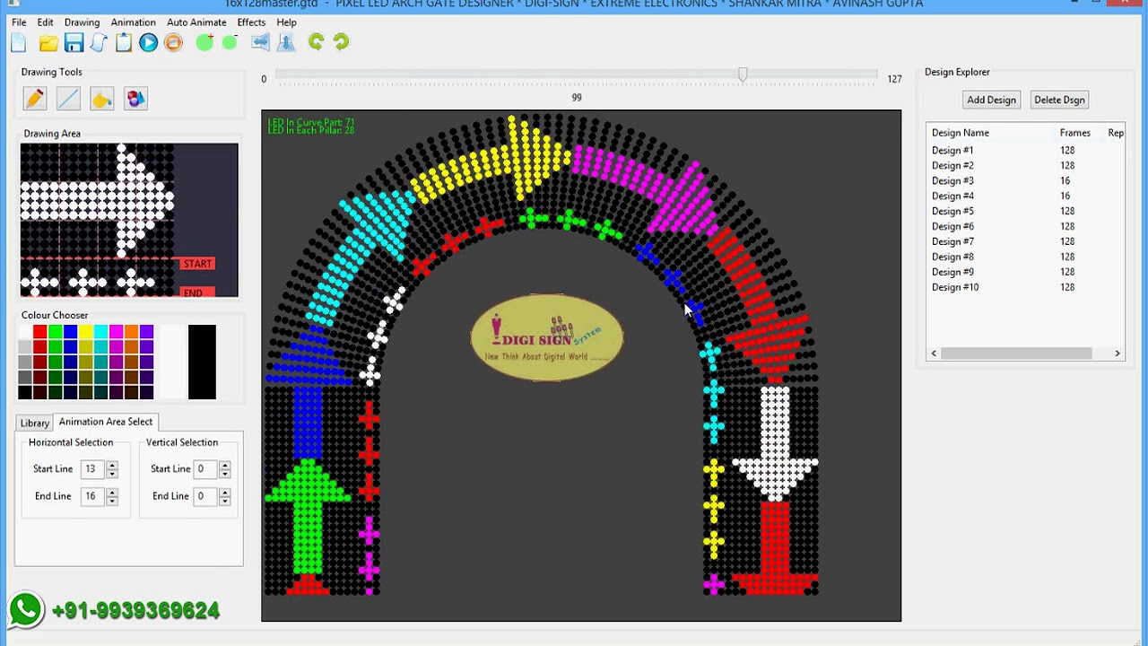 Pixel Led Arch Gate Advance Animation Software Youtube