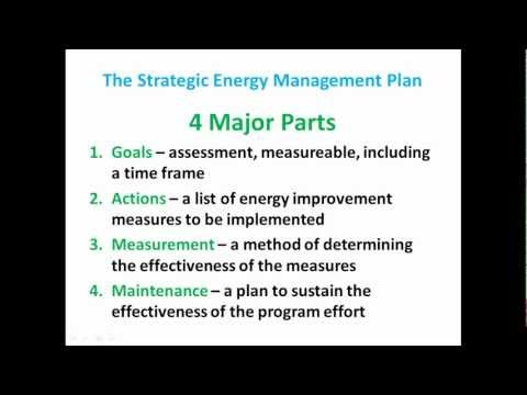 Strategic Energy Management Planning
