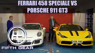 Tiff VS Chris Harris - Ferrari 458 Speciale & Porsche 911 GT3 | Fifth Gear