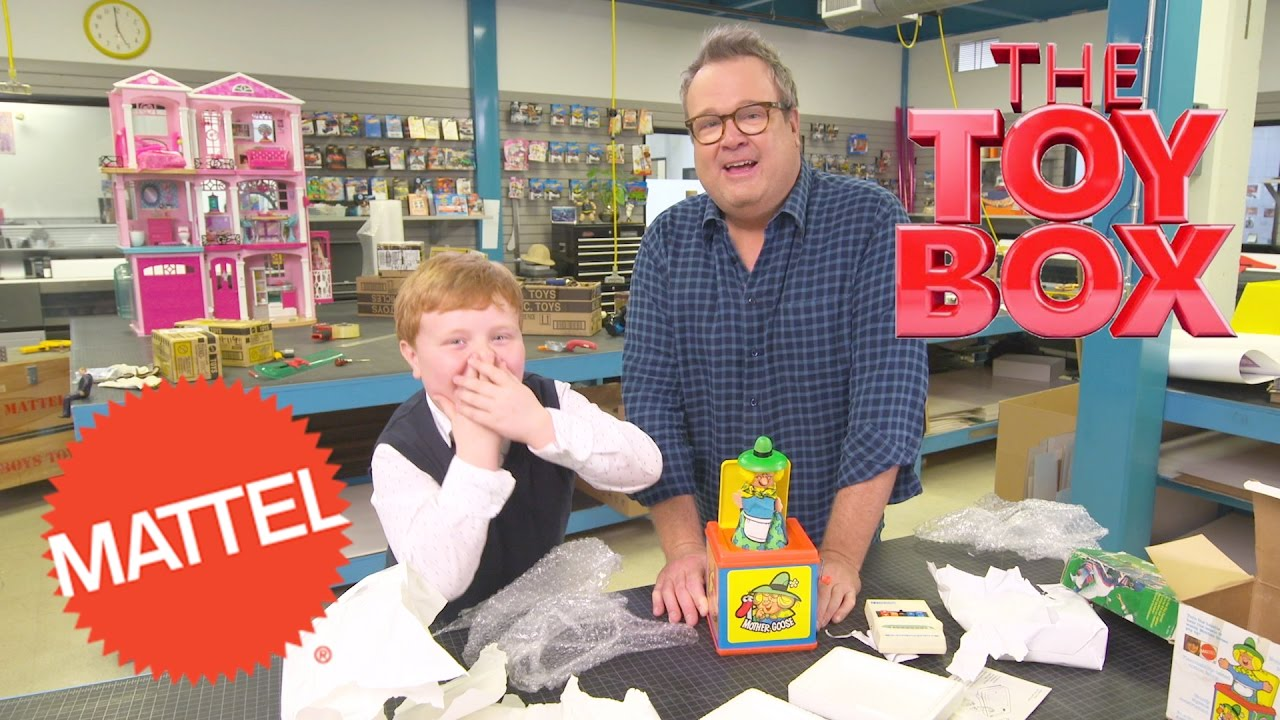 Toy Box Toys Unboxing Retro Mattel Toys With Eric Stonestreet And Noah Ritter The Toy Box Mattel