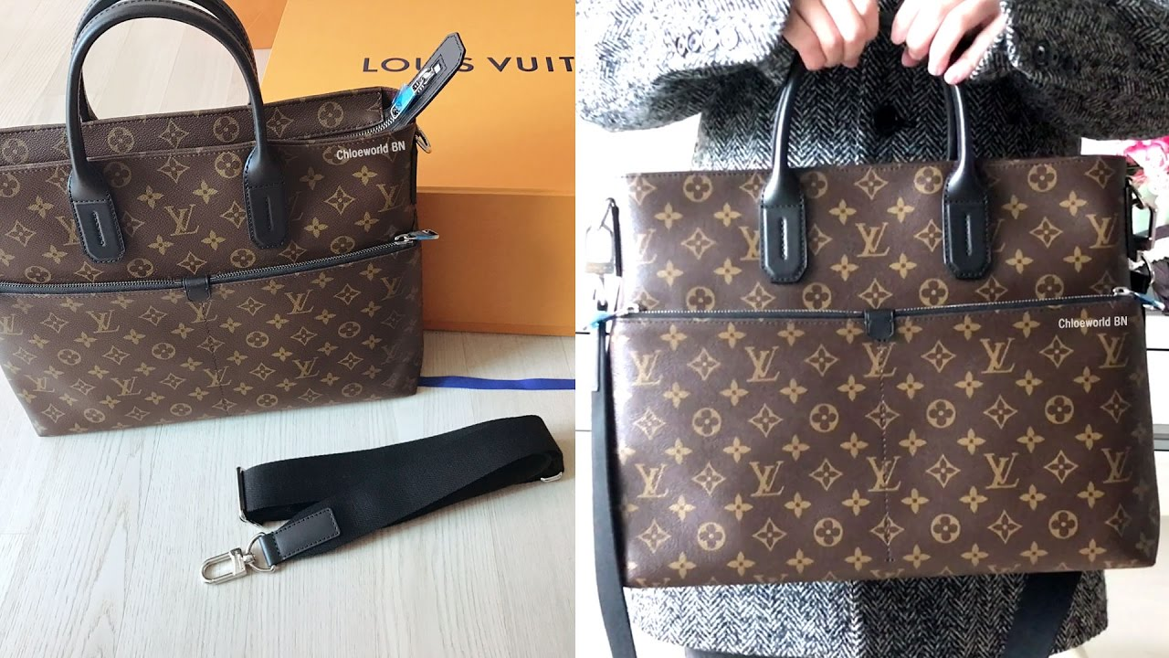 dede72f89a65 Louis Vuitton Men s Bag 7 Days A Week Monogram Macassar Review - YouTube