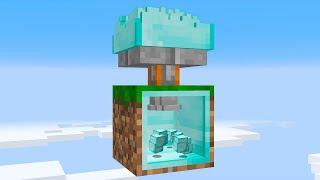 I built an UPGRADED DIAMOND FARM on 1 block Skyblock... (#17)
