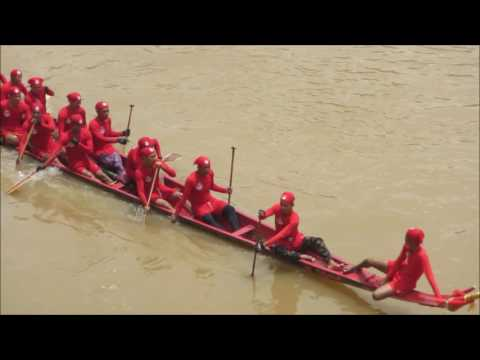 Boatracing in Luang Prabang, Lao PDR