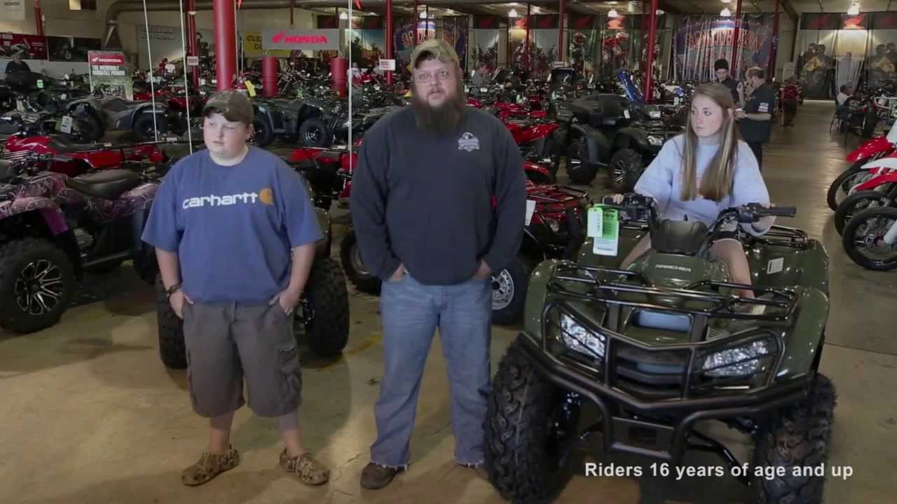 ray and his new honda rancher from southern honda powersports in chattanooga tn youtube. Black Bedroom Furniture Sets. Home Design Ideas