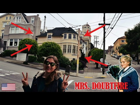🇺🇸 VISITING MRS DOUBTFIRE'S HOUSE, San Francisco, California, USA Travel Vlog