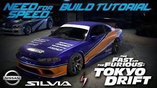Need for Speed 2015 | Tokyo Drift Han's Nissan Silvia Mona Lisa Build Tutorial | How To Make