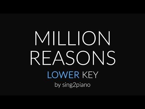 Million Reasons (Lower Piano Karaoke) Lady Gaga