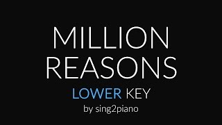 Million Reasons (Lower Piano Karaoke) Lady Gaga
