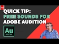 Adobe Audition CC Free Sound Effects Library mp3