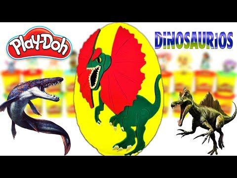 Huevo Sorpresa Gigante de DINOSAURIOS Jurassic Park de Plastilina Play doh en Español