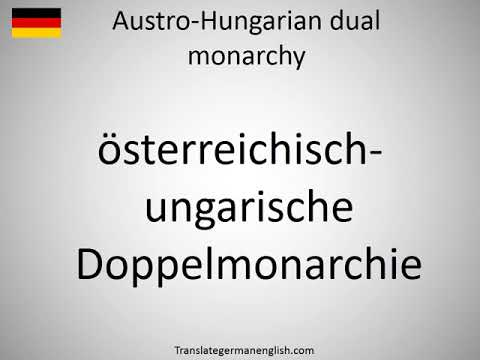 How to say Austro-Hungarian dual monarchy in German?