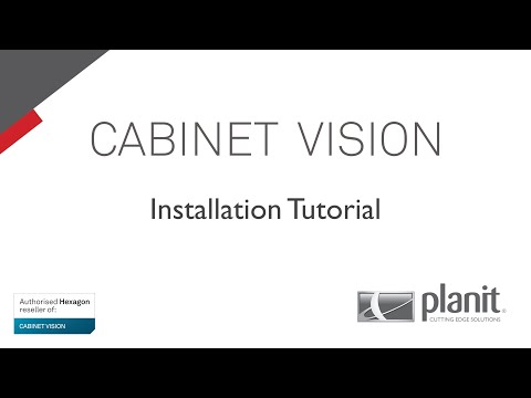 CABINET VISION Tutorial (Basic 9) - How to Install CABINET VISION