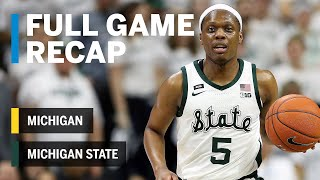 Full Game Recap: Winston Leads Spartans to B1G Title   Michigan vs. Michigan State   March 9, 2019
