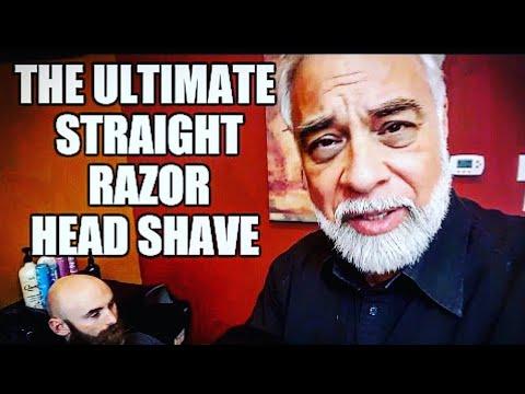 Ultimate Straight Razor Head Shave