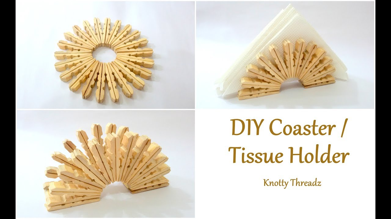 Best Out Of Waste Diy Coaster Or Tissue Holder Using