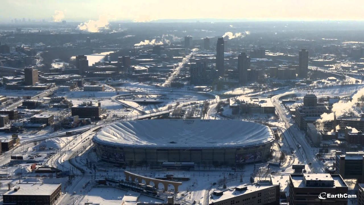 Minnesota Vikings Stadium Roof Deflation Time Lapse Youtube