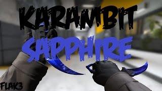 Karambit Sapphire Doppler HD Para CS 1.6 [2017]