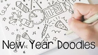 Hello 2017! New Year Doodles | Doodle with Me